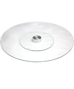 Подставка стеклянная крутящаяся (тортница) декор для торта и кухни 25см Stenson (R17595), , R17595, Stenson, Крутящиеся подставки