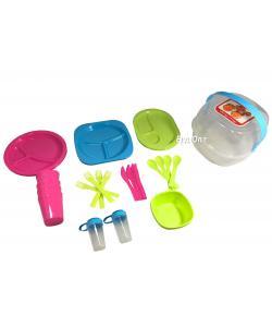 Набор посуды для пикника 36шт. на 4 персоны Stenson (R86497), , R86497, Stenson, Аксессуары для игровых видов спорта