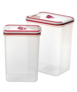 Контейнер (емкость) для хранения сыпучих продуктов (круп) 2 шт. в наборе Stenson (B-069), , B-069, Stenson, Товары для кухни