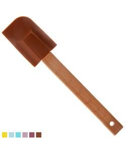 Лопатка кухонная силиконовая с бамбуковой ручкой Stenson (HH-089B), , HH-089B, Stenson, Товары для кухни
