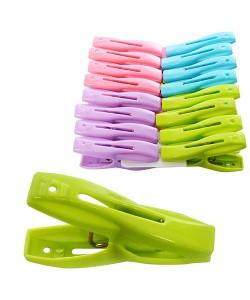 Прищепка бельевая для крепления белья пластиковая набор 16шт Stenson (N01535), , N01535, Stenson, Разные товары для дома