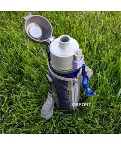 Термос бутылка-поилка спортивная нержавейка в чехле 0.5л Stenson (YDB50), 20125, YDB50, Stenson, Термосы