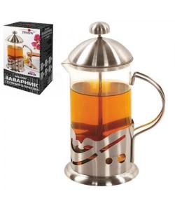 Заварник Френч-пресс (чайник, кофейник) для чая стеклянный 600мл Stenson (MS-0187), , MS-0187, Stenson, Товары для кухни
