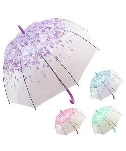 Зонт-трость глубокий (зонтик) от дождя ветрозащитный полуавтомат 60см Весна Stenson (T05717) , , R83141, Stenson, Аксессуары для туризма