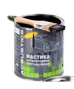 Мастика для авто битумно каучуковая ACOUSTICS 0.8 кг (противошумная, антикоррозионная для днища), , Мастика 0,8 кг, Acoustics, Аксессуары для автомобиля
