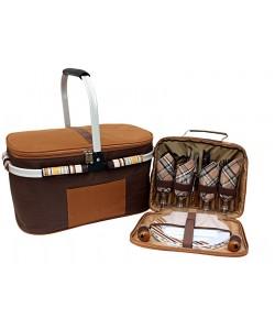 Набор для пикника на 4 персоны Time Eco TE-432 BS и изот. сумка, , 432BS, Time Eco, Аксессуары для туризма