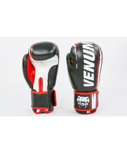 Перчатки боксерские (для бокса) кожаные на липучке 10-12oz VENUM (MA-6749), , MA-6749, Venum, Тренировочные перчатки