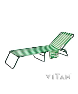 Раскладушка Vitan Диагональ 7071, , 7071, Vitan, Садовая мебель