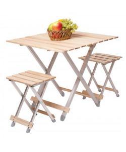Комплект стол и два стула садовая мебель Vitan Alluwood (VT6240), 19596, VT6240, Vitan, Аксессуары для туризма