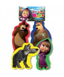 Игра настольная Бэбби пазлы. Маша и Медведь VT1106-17