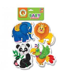 Игра настольная Беби пазлы. Зоопарк VT1106-50