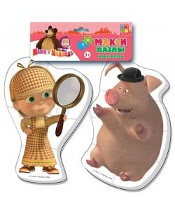Игра настольная Бэбби пазлы. Маша и Медведь Макси VT1108-04