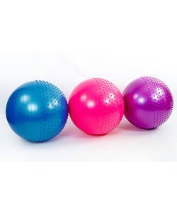 Мяч (фитбол) для фитнеса полумассажный 2 в 1 OSPORT 65см (FI-4437-65), 13036, FI-4437-65, OSPORT, Мячи для фитнеса