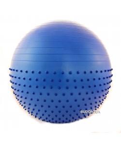 Мяч (фитбол) для фитнеса полумассажный 2 в 1 OSPORT 75 см (FI4437-75)