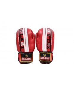 Перчатки боксерские Zel PU ZB-4275, 12816, ZB-4275-B,ZB-4275-R,ZB-4275-BK, Zelart, Тренировочные перчатки