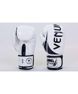 Перчатки боксерские кожаные на липучке VENUM 10,12 унций (BO-5245), , BO-5245, Venum, Боксерские перчатки