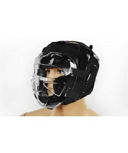 Шлем для единоборств (с прозрачной маской) кожа Zel ZB-5009, , ZB-5009, Zelart, Шлемы для единоборств