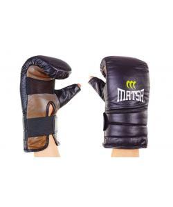 Снарядные перчатки для единоборств с открытым большим пальцем кожаные Zel (MA-6011), , MA-6011, Zelart, Снарядные перчатки