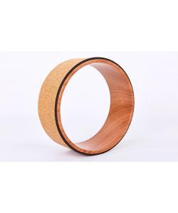Колесо (кольцо) для йоги пробковое 33х13см Zelart Fit Wheel Yoga (FI-6976), , FI-6976, Zelart, Кирпич и колесо для йоги