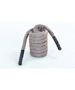 Канат для кроссфита из полипропилена в защитном рукаве 38 мм 9м Zel BATTLE ROPE (FI-5719-9), , FI-5719-9, Zelart, Аксессуары для шведских стенок