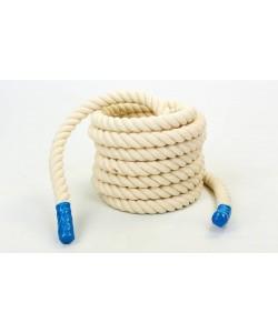 Канат для кроссфита из хлопка 40мм 12м  UR COMBAT BATTLE ROPE (R-6227-12), , R-6227-12, UR, Аксессуары для шведских стенок