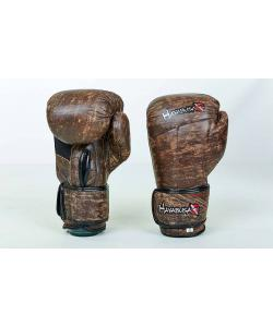 Перчатки боксерские (для бокса) кожаные на липучке 10-12oz HAYAB KANPEKI (VL-5779), , VL-5779, Zelart, Тренировочные перчатки