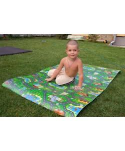 Детский игровой развивающий коврик Автодорога Приключений 110x200см