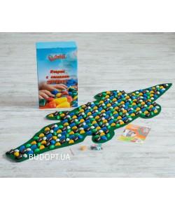 Детский ортопедический (массажный) коврик с камнями Onhillsport Крокодил (MS-1264), 00-00006467, MS-1264, Onhillsport, Развивающие игры