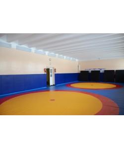 Борцовский ковёр для борьбы, дзюдо 12x12м, толщина 40мм