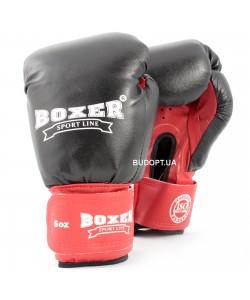 Детские боксерские перчатки комбинированные Boxer 6 унций (bx-0031), , bx-0031, Boxer, Тренировочные перчатки