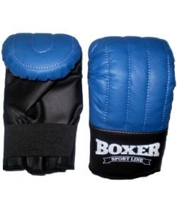 Перчатки тренировочные из кожвинила Boxer Элит L (bx-0042), , bx-0042, Boxer, Снарядные перчатки