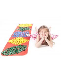 Массажный (ортопедический) коврик дорожка для детей с камнями Onhillsport 200*40см (MS-1213), 00-00002746, MS-1213, Onhillsport, Товары для красоты и здоровья