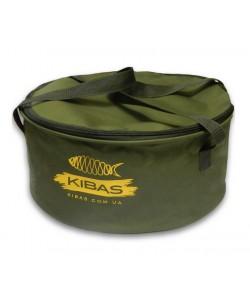 Мягкое рыболовное ведро для прикормки с крышкой большое Kibas D 400 С, 2132, D 400 С, Kibas, Охота и рыбалка