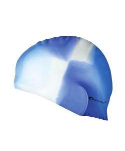 Силиконовая шапочка для купания Abstract Spokey 83946 бело-голубая