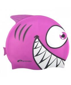 Шапочка для купания детская Spokey Rekinek, фиолетовая