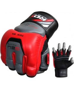 Снарядные перчатки, битки RDX Leather Red, 10204, 10204, RDX, Снарядные перчатки