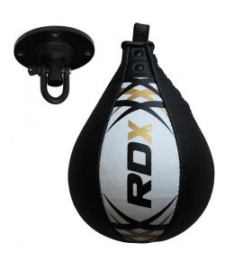 Пневмогруша боксерская RDX Leather White, 30306, 30306, RDX, Пневмогруша