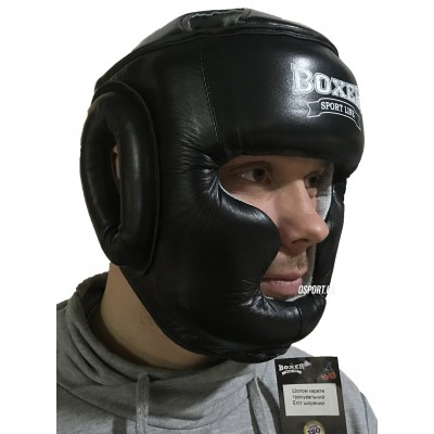 Шлем боксерский из кожвинила Элит Boxer (bx-0073)