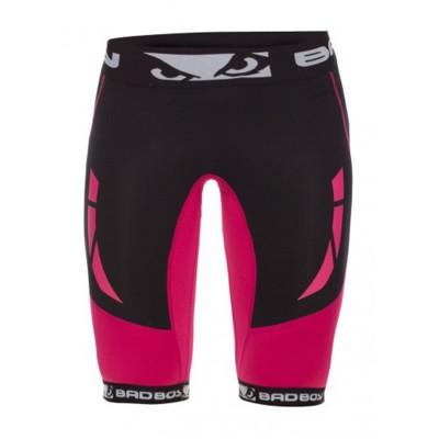 Компрессионные шорты женские Bad Boy Compression Shorts Black/Pink