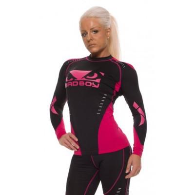 Рашгард женский с длинным рукавом Bad Boy Sphere Black/Pink