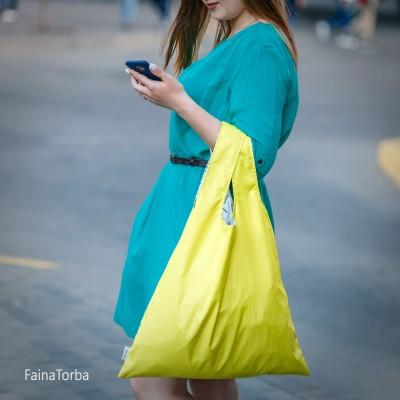 Эко сумка (экосумка шоппер, пляжная) для покупок, продуктов Faina Torba тканевая (ft-0001)