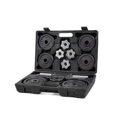 Металлические гантели Hop-Sport 2x10 кг в кейсе