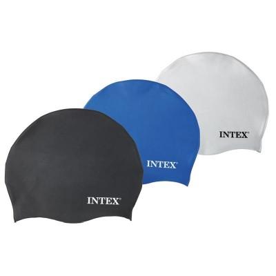 Силиконовая шапочка для плавания и бассейна универсальная Intex (55991)