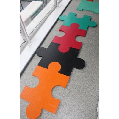 Резиновое напольное модульное покрытие для детских игровых площадок OSPORT (FI-0136-1)