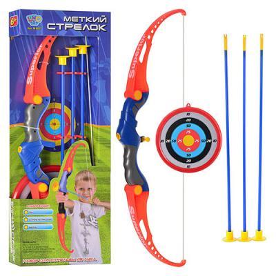 Игрушка лук со стрелами на присосках и мишенью Limo Toy (M 0037)