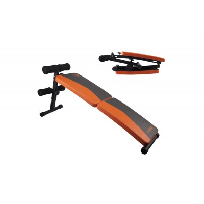 Раскладная скамья для пресса FITNESS SIT-UP BENCH LS1209, 120 см