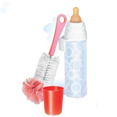 Бутылочка детская НЯМА для кормления новорожденных младенцев 250 мл + ершик для мытья Мирта (496)