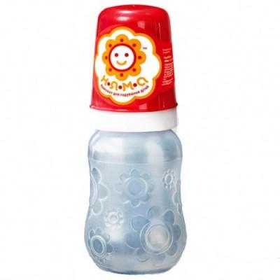 Бутылочка детская НЯМА для кормления новорожденных младенцев с ручками и латексной соской 125 мл Мирта (8753)