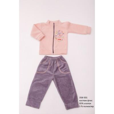Детский костюм (штаны и кофта на молнии) из флиса OBABY (358-501)