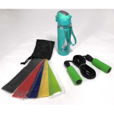 Набор для фитнеса и спорта (бутылочка, резинка и скакалка) OSPORT (N-0001)